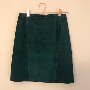 Dresses & Skirts - Vintage Genuine Leather Skirt